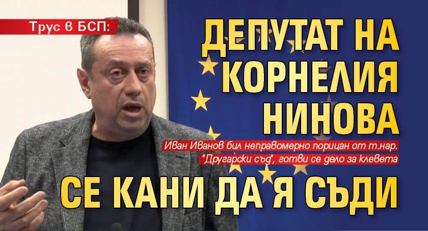 Трус в БСП: Депутат на Корнелия Нинова се кани да я съди