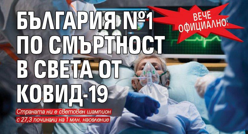 Вече официално: България №1 по смъртност в света от Ковид-19