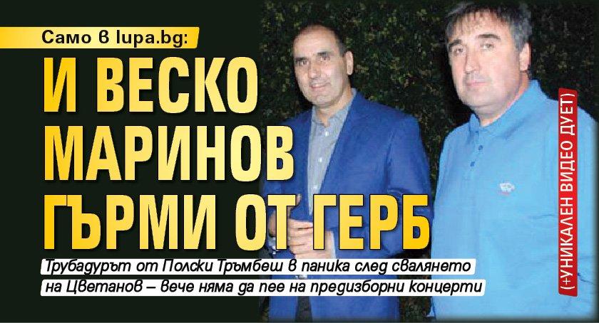 Само в Lupa.bg: И Веско Маринов гърми от ГЕРБ (+уникален видео дует)