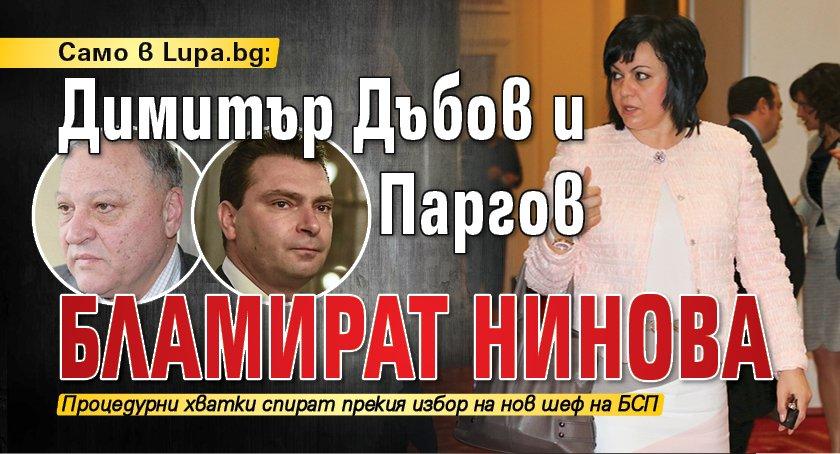 Само в Lupa.bg: Димитър Дъбов и Паргов бламират Нинова
