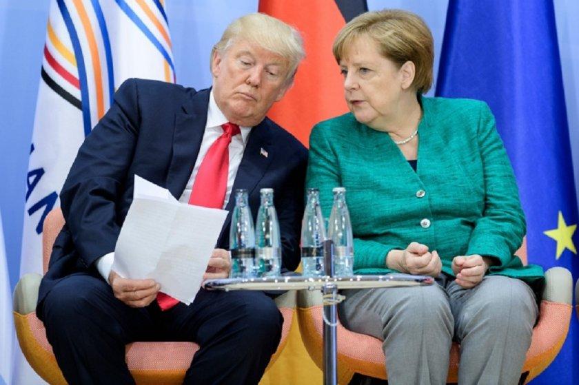 Тръмп и Меркел си бъбрят в Портсмут