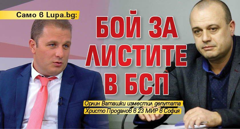 Само в Lupa.bg: Бой за листите в БСП