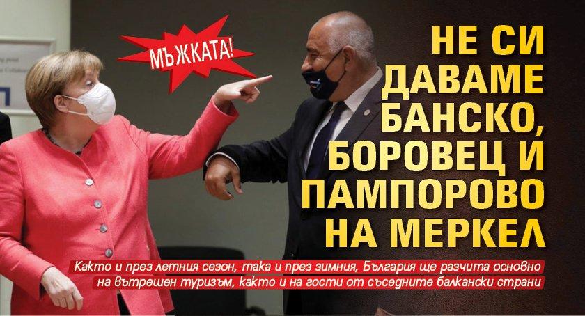МЪЖКАТА! Не си даваме Банско, Боровец и Пампорово на Меркел
