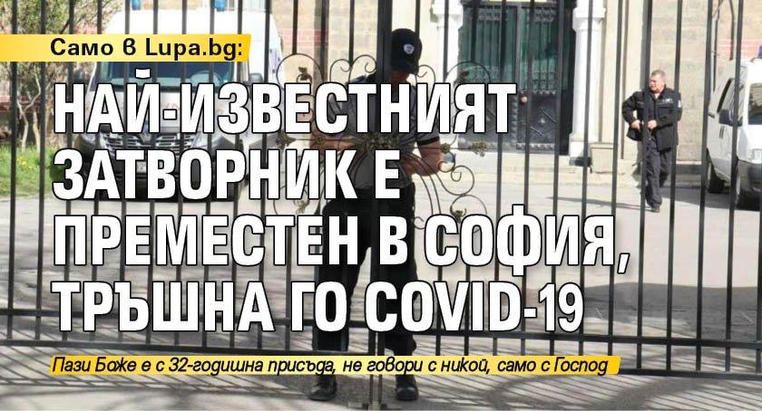 Само в Lupa.bg: Най-известният затворник е преместен в София, тръшна го COVID-19