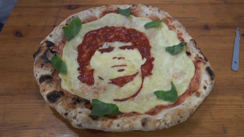 Италианец направи пица с лика на Марадона