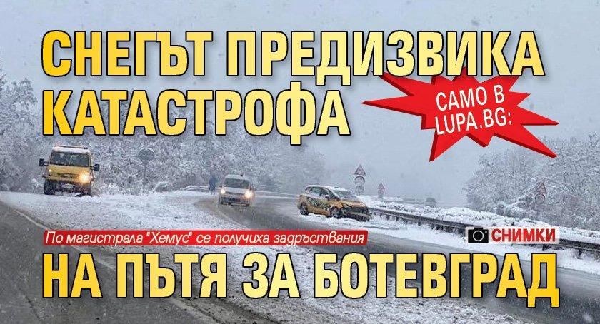 Само в Lupa.bg: Снегът предизвика катастрофа на пътя за Ботевград (СНИМКИ)