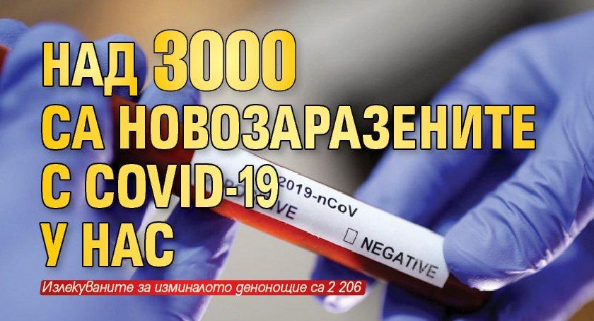 Над 3 000 са новозаразените с COVID-19 у нас