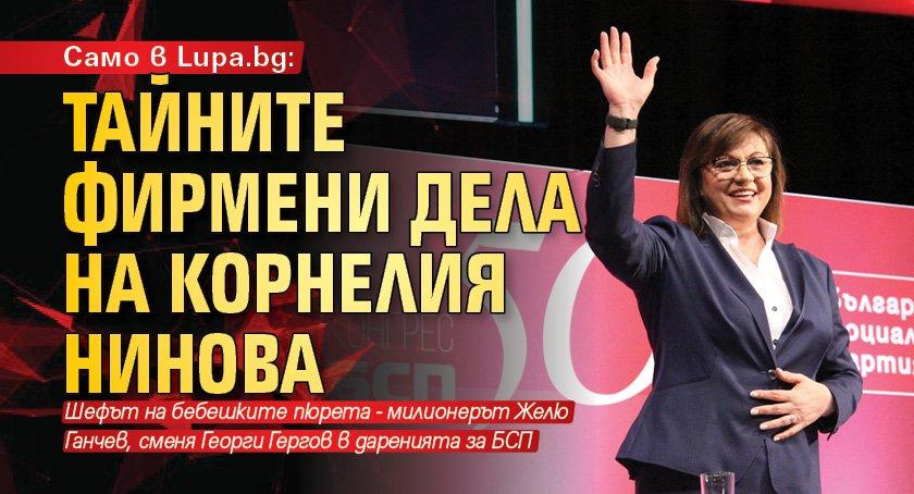 Само в Lupa.bg: Тайните фирмени дела на Корнелия Нинова