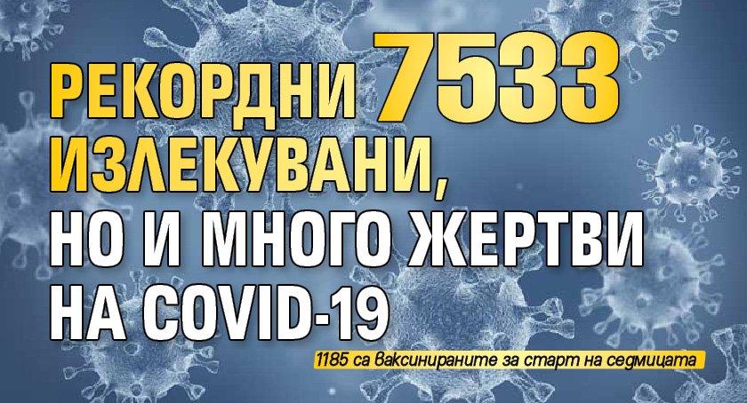 РЕКОРДНИ 7533 излекувани, но и много жертви на COVID-19