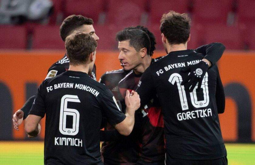 Байерн отново без грешка след минимален успех в регионалното дерби с Аугсбург