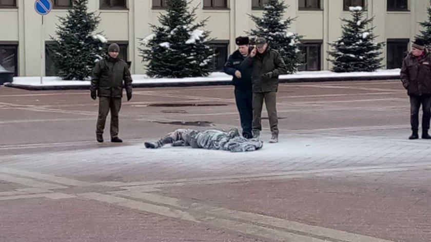 Мъж се самозапали пред сградата на правителство в Минск