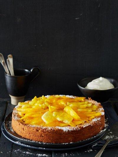 Екзотична торта с ананас и манго (стъпка по стъпка)