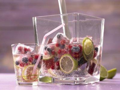 Лайм лимонада с плодов лед (стъпка по стъпка)