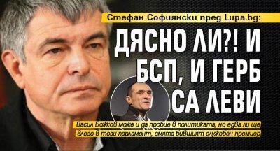 Стефан Софиянски пред Lupa.bg: Дясно ли?! И БСП, и ГЕРБ са леви