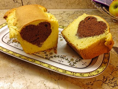 Мраморният образец на кекса