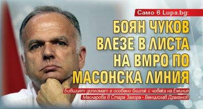 Само в Lupa.bg: Боян Чуков влезе в листа на ВМРО по масонска линия