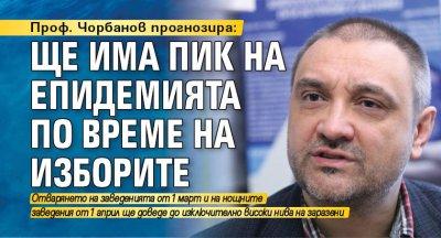 Проф. Чорбанов прогнозира: Ще има пик на епидемията по време на изборите
