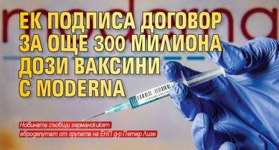 ЕК подписа договор за още 300 милиона дози ваксини с Moderna