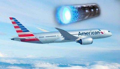 Цигарено НЛО лети над самолет