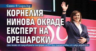 Само в Lupa.bg: Корнелия Нинова окраде експерт на Орешарски