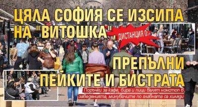 Дистанция 0: Цяла София се изсипа на Витошка, препълни пейките и бистрата