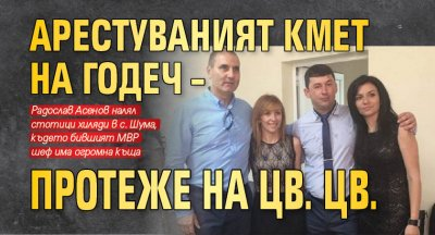 Арестуваният кмет на Годеч – протеже на Цв. Цв.