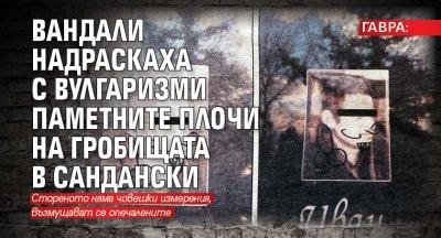 ГАВРА: Вандали надраскаха с вулгаризми паметните плочи на гробищата в Сандански