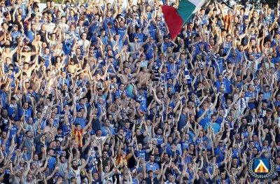 Фенове на Левски скочиха на футболистите