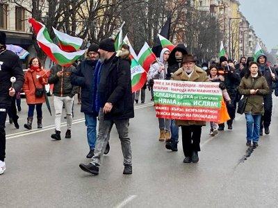Фоторепортаж в Lupa.bg: Дионисий и Йоло Денев поведоха шествието срещу маските и мерките