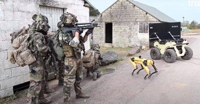 Френската армия тества бойни роботи (ВИДЕО)