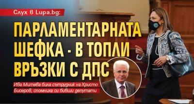Слух в Lupa.bg: Парламентарната шефка - в топли връзки с ДПС