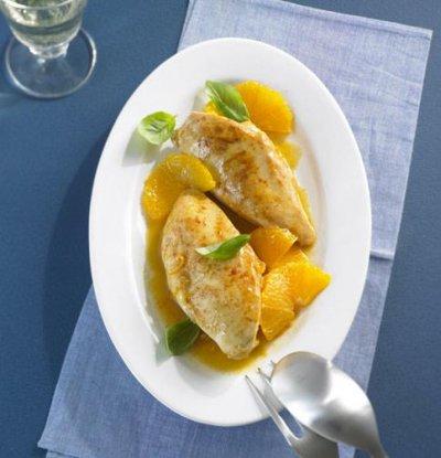 Портокалови пилешки гърди с лют пипер
