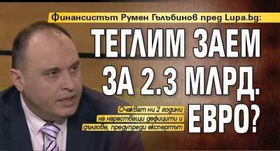 Финансистът Румен Гълъбинов пред Lupa.bg: Теглим заем за 2.3 млрд. евро?