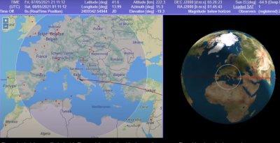На тръни: Модул от китайска ракета пада в България (НА ЖИВО)
