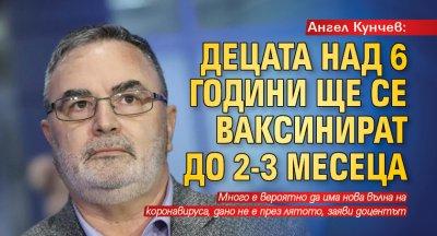 Ангел Кунчев: Децата над 6 години ще се ваксинират до 2-3 месеца
