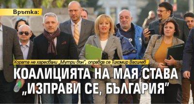 """Врътка: Коалицията на Мая става """"Изправи се, България"""""""