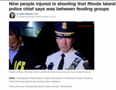 Екшън в САЩ: 9 са ранени при стрелба в Провидънс