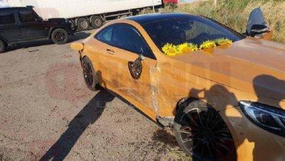 Камион помля златния мерцедес за 350 бона на Динко