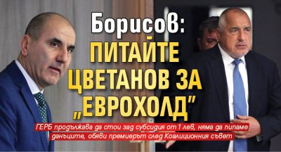 "Борисов: Питайте Цветанов за ""Еврохолд"""