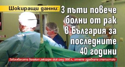 Шокиращи данни: 3 пъти повече болни от рак в България за последните 40 години
