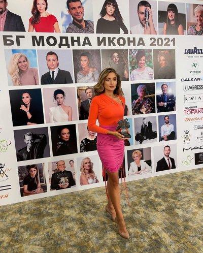 "Саня Борисова с приз ""БГ модна икона"""
