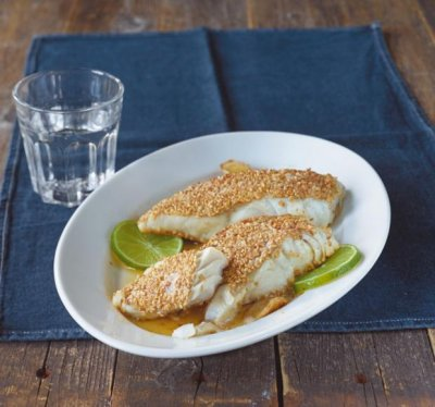 Сусамена риба с лайм и джинджифил