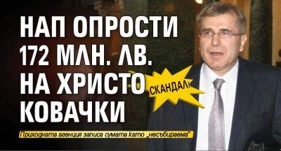 СКАНДАЛ: НАП опрости 172 млн. лв. на Христо Ковачки