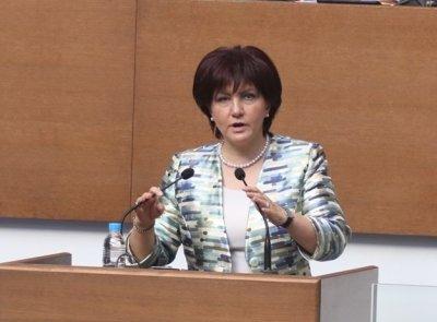 Бившият шеф на парламента Цвета Караянчева