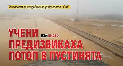 Учени предизвикаха потоп в пустинята (ВИДЕО)