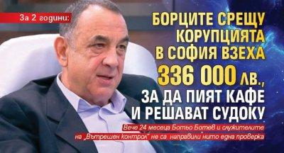 За 2 години: Борците срещу корупцията в София взеха 336 000 лв., за да пият кафе и решават судоку