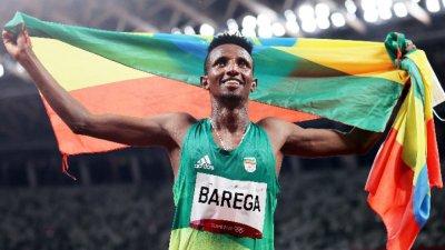 Етиопец триумфира на 10 000 метра в първия лекоатлетически финал в Токио