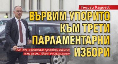 Георги Кадиев: Вървим упорито към трети парламентарни избори