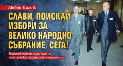 Любен Дилов: Слави, поискай избори за Велико народно събрание, сега!