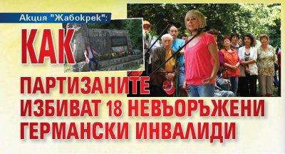 """Акция """"Жабокрек"""": Как партизаните избиват 18 невъоръжени германски инвалиди"""